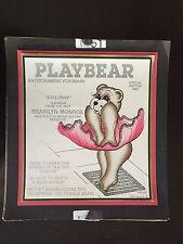 1986 Playbear Playboy Parody Art by Steven M. Gardner Signed COA 166/850