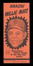 >orig./GEM!!! 1954 New York Giants WILLIE MAYS APPEARANCE BROCHURE Art Flynn