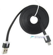 Black 2M Noodle Micro USB Data Sync Charge Cable fr Samsung S3 S4 i9500 Note3 TL