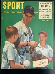 Ted Williams **Autographed** April 1948 SPORT Magazine Boston Red Sox Cover