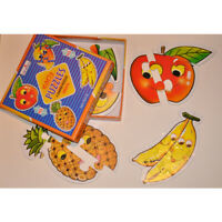 NEW Early Puzzle FRUIT Educational Toy TODDLER PRESCHOOL Jigsaw - 4 PUZZLES