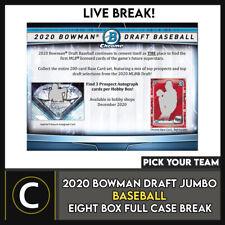 2020 Caja de béisbol 8 BOWMAN DRAFT Jumbo Completo Funda romper #A1054 - Elige Tu Equipo