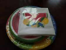 Summer Fruit Paper Plates & Napkins