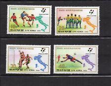 football Corée du N 1989 Y&T N°2095 à 2098 4 timbres neufs sans charnière /T4092