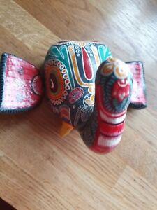 Vintage Elephant Wall Mask