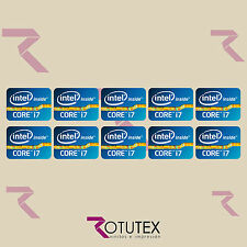 10 X INTEL INSIDE CORE I7 CASE STICKER LOGO BADGE DECAL FOR PC LAPTOP HD QUALITY