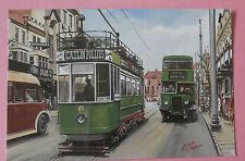 Crosville Ecw Leyland Pdi & Open Top Tram Llandudno Udc Uk New Bus Postcard