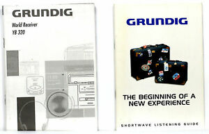 ORIGINAL MANUAL for GRUNDIG YACH BOY YB 320 + GRUNDIG SHORTWAVE LISTENING GUIDE