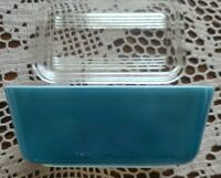 "Vintage PYREX ~ ""Blue"" 1.5 Pint ~ Refrigerator Dish ~ 0502 ~ With Lid 502-C"