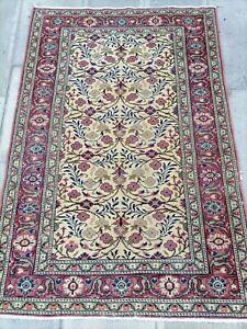 Old Handmade Rug,2.8x4.3,Old Turkish Rug,Antique Handmade Rug,Vintage Floor Rug.
