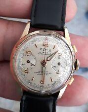 montre ancienne mécanique ELVIA Chronographe Venus 210. Old Watch fonctionne