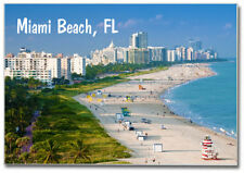 Miami Beach, Florida, Beach, Skyline, FL, 2 x 3 Fridge Photo Magnet #MIA206