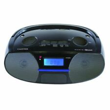 Lloytron Black Portable Bluetooth Stereo Radio With Mp3 and Alarm Clock N6402BK
