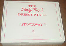 Shirley Temple Dress Up Doll Outfit  STOWAWAY MIB  Danbury Mint