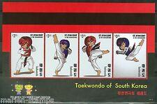ST. VINCENT GRENADINES 2014  TAEKWONDO OF SOUTH KOREA  SHEET II  MINT NH