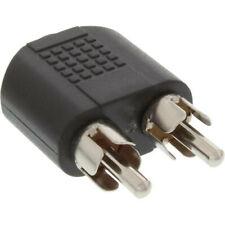 InLine Audio Adapter 3,5mm Klinke Bu->2x Cinch St Stereo schwarz