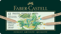 #112112 Tin of 12 Faber-Castell Pitt Pastel Pencils Artists' Art Colour Pencils