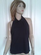 BLACK LOW BACK COLLARED TOP SIZE XL 16/18