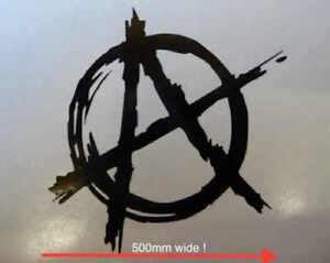 Huge Anarchy Sticker for VW Bug Camper Van 500mm Rat Bus Sex Pistols Revolution