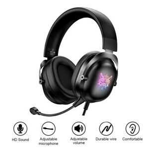 ONIKUMA X11 Gaming Headset Wired Over Ear Headphones with Detachable Microphone