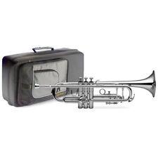 Levante Lv-tr4201 BB trompeta con funda blanda - plateado