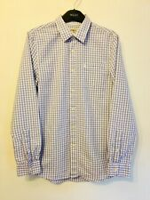 Jack Wills, Lilac/White Cotton Seersucker Mens Shirt. S VGC