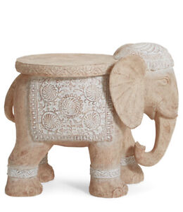 Elephant Side/Lamp/Outside/Outdoor/Garden/Patio Bed/Bedside Table Ornament Decor