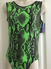 """NEW Lime Reptile Leotard size 36"""" by Zodiac Leotards"""