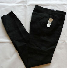POLO Ralph Lauren 100% Linen BLACK Chino Pants Taglia 30 MADE IN ITALY