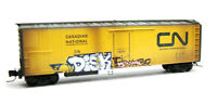 Canadian National 51' Rivet Side Reefer Weathered Graffiti MTL #54851020 Z Scale