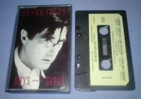 BRYAN FERRY BOYS AND GIRLS PAPER LABELS cassette tape album T5872