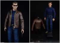"""Toy Center 1/6 Scale Agent of Leather Clothes Suit Set Fit 12"""" Male Figure Body"""