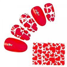 NB913 2x NAGELSTICKER Fingernagel Nagel für Akzente rote Herzen Liebe Love TOP