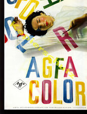 orig. Farb-Reklame Agfacolor Retuschefolie Dame Farbfotografie Leverkusen 1958