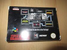 Arcades Greatest Hits ~ Super Nintendo SNES pal