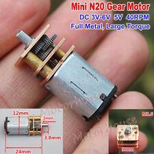 Micro N20 Gear Motor DC3V-6V 48RPM Full Metal Gearbox Slow Speed DIY Robot Car
