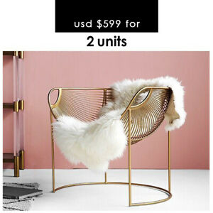 Luxury Gold Metal Chair for Dinning or Lounge (2 units)