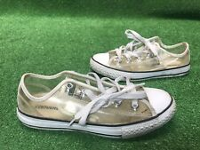 YOUTH CONVERSE ALL STAR (SEE THROUGH-CLEAR ATHLETIC SHOES-SIZE 3