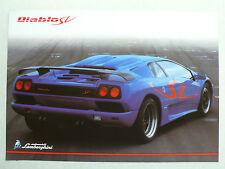 Prospetto Lamborghini Diablo SV, 1997, 2 pagine, inglese