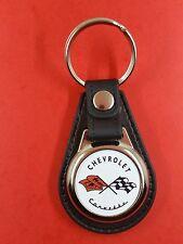 CHEVROLET Logo Chevrolet Corvette  .Porte Clés Luxe Rond (réf PCLRo)