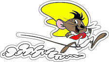 "Speedy Gonzales Running bumper sticker wall decor vinyl decal, 6""x 3.5"""