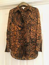 Topshop Leopard Animal Print Top Shirt Blouse Size 6/34