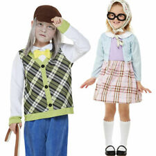 Childrens Old Man & Old Lady Fancy Dress Costume World Book Day Boys Girls Outfi