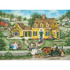 BONNIE WHITE HEARTLAND JIGSAW PUZZLE TEDDY BEAR TEA PARTY 1000 PCS #30678