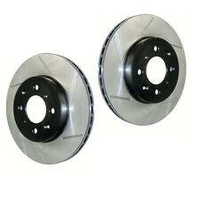 Pair Set of 2 Front StopTech Slot Disc Brake Rotors for Smart Crossblade Fortwo