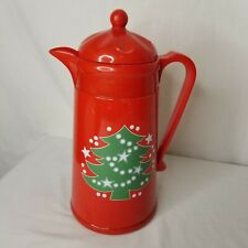 Waechtersbach Christmas Tree Carafe Thermos Plastic Pitcher Hot Cold Retired