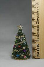 "Tiny Dollhouse Miniature CHRISTMAS TREE  <2"" tall  small scale 1:48 1/4"" scale"