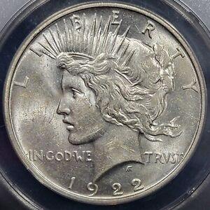 1922 D Peace Silver Dollar AU 58 ANACS
