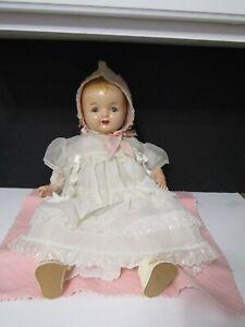 """VTG 1920's Georgene Averill BABY HENDREN Composition Doll Cloth Body 20"""" HTF"""