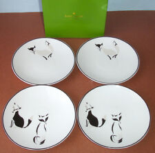 Kate spade Wickford Forest Drive Tidbit Plates Set of 4 Fox Design New In box
